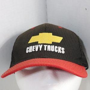 Chevy Trucks Hat textured Black Red Vintage